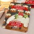 Lisa Angel with Mad Beauty Festive Feast Cranberry Face Mask