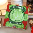 Lisa Angel with Fun Mad Beauty Festive Feast Sprout Eye Pads