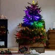 Plug In Rainbow Ombre LED Christmas Tree String Lights