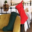 Lisa Angel Red and Green Linen Christmas Stockings