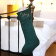 Lisa Angel Personalised Embroidered Linen Christmas Stocking