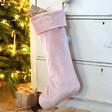 Lisa Angel Personalised Wreath Velvet Christmas Stocking