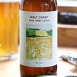 Lisa Angel Glass Bottle of Malt Coast Farm Table Saison Ale