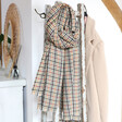 Lisa Angel Ladies' Mustard and Green Check Blanket Scarf