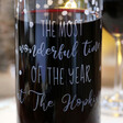 Lisa Angel Special Personalised Engraved Christmas Glass Wine Carafe