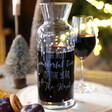 Lisa Angel Personalised Engraved Christmas Glass Wine Carafe