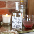 Lisa Angel 50cl Personalised 'Happy Birthday' Bottle of Granite North Gin