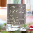 Personalised 'New Home' Bottle of Granite North Gin