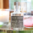 Lisa Angel 10cl Personalised 'New Home' Bottle of Granite North Gin