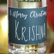 Personalised 10cl Bottle of Festive 'Merry Christmas' Granite North Gin