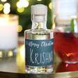 Lisa Angel Personalised 10cl Bottle of Festive 'Merry Christmas' Granite North Gin