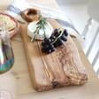 Lisa Angel Irregular Shape Olive Wood Serving Board