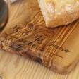 Personalised Irregular Shape Olive Wood Serving Board