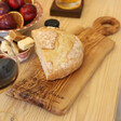 Lisa Angel Personalised Irregular Shape Olive Wood Serving Board