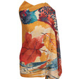 Lisa Angel Powder Colourful Luxurious Watercolour Pheasant Print Scarf