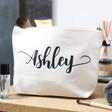 Lisa Angel Ladies' Personalised Name Cotton Wash Bag