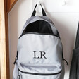 Lisa Angel Embroidered Personalised Recycled Grey Backpack