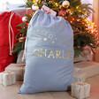 Lisa Angel Personalised Starry Name Drawstring Christmas Sack