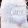 Close up of Personalised Toy Surprise Small Drawstring Christmas Sack