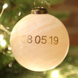 Lisa Angel Personalised Meaningful Date Marble Bauble