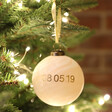 Personalised Special Date Marble Bauble