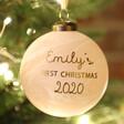 Lisa Angel Personalised First Christmas Marble Bauble