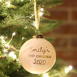 Babies Personalised First Christmas Marble Bauble