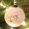 Personalised Pet Name Marble Bauble Gift