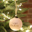 Personalised Baby Name Marble Bauble