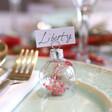 Lisa Angel Ladies' Set of 6 Christmas Bauble Dried Flower Place Card Holders