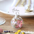 Lisa Angel Set of 6 Small Iridescent Bauble Dried Flower Place Card Holders