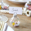 Lisa Angel Set of 6 Plastic Iridescent Bauble Dried Flower Place Card Holders