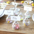 Lisa Angel Set of 6 Iridescent Bauble Dried Flower Place Card Holders