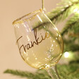 Lisa Angel Name Personalised Sass & Belle Christmas Cheer White Wine Baubles
