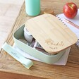 Ladies' Personalised Sass & Belle Mint Green Bamboo Lunch Box