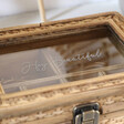Personalised Sass & Belle Rattan Jewellery Box