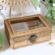 Teen's Personalised Sass & Belle Rattan Jewellery Box