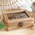 Lisa Angel Ladies' Personalised Sass & Belle Rattan Jewellery Box