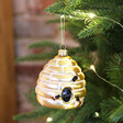 Lisa Angel with Sass & Belle Glass Beehive Bauble
