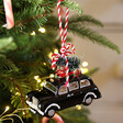 Lisa Angel with Sass & Belle Black Cab Bauble