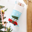 Lisa Angel with Sass & Belle Campervan Dogs Embroidered Stocking