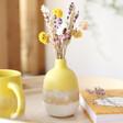 Lisa Angel with Sass & Belle Mojave Glaze Yellow Vase