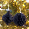Lisa Angel with Sass & Belle Set of 2 Honeycomb Paper Hanging Decorations in Navy
