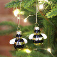 Lisa Angel with Cute Sass & Belle Set of 2 Mini Bee Baubles