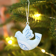 Lisa Angel Dove Decoration from Set of Three Metal Christmas Hanging Decorations