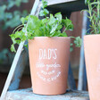 Lisa Angel Dad's Terracotta Garden Plant Pot