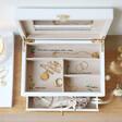 Ladies' White Embroidered Jewellery Box