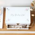 Lisa Angel Ladies' Personalised Flowers White Embroidered Jewellery Box