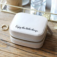 Lisa Angel Mini Square 'Enjoy the Little Things' Jewellery Box