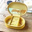 Lisa Angel Personalised Owen Mathers Illustrated Oval Travel Jewellery Box